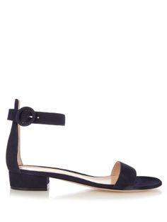Portofino suede block-heel sandals | Gianvito Rossi | MATCHESFASHION.COM US