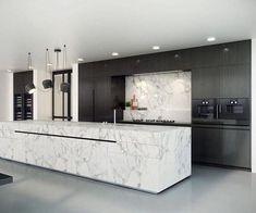 39 Amazing Luxury Kitchens Design IDeas WIth Modern Style - homepiez Luxury Kitchen Design, Best Kitchen Designs, Luxury Kitchens, Modern Interior Design, Interior Design Kitchen, Cool Kitchens, Modern Kitchens, Dream Kitchens, Contemporary Kitchens