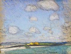 Haystacks - George Clausen British, charcoal and pastel Impressionist Landscape, Watercolor Landscape, Watercolour, Information Art, Art Cart, Royal College Of Art, Art Prints For Sale, Affordable Art, Print Artist