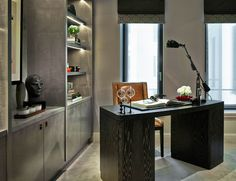 Chelsea, London | Luxury Interior Design | Study | Bespoke | Joinery | Desk
