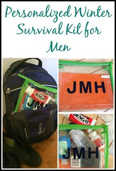 AD Make your favorite guy a winter survival kit and personalize it by adding their initials to it, using adhesive vinyl.