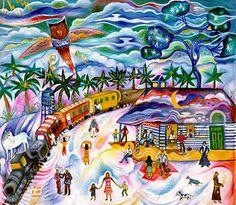 """""""Macondo era então uma cidade de vinte casas de barro e taquara, construídas à margem de um rio de águas diáfanas que se precipitavam por um leito de pedras polidas, brancas e enormes como ovos pré-históricos""""."""