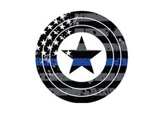 Thin Blue Captain America Superhero Vehicle Decal.  Vinyl Decal.  Law Enforcement Sticker.  Police Decal. by ANGPrintingAndDesign on Etsy Cop Tattoos, Line Tattoos, Tatoos, Captain America Tattoo, Captain America Shield, Avengers Tattoo, Marvel Tattoos, Tattoo Arm Designs, Wolf Tattoo Design