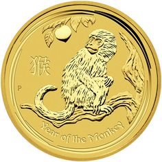 2016 1 oz Gold Lunar Year of the Monkey BU Gold Krugerrand, Gold And Silver Coins, Mint Gold, Bullion Coins, Gold Bullion, 1 Oz Gold Coin, Wiener Philharmoniker, Maple Leaf, Gold Sovereign