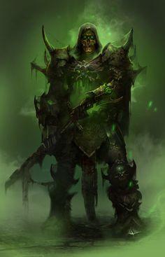 Undead Warrior by karelinnikolay   Fantasy   2D   CGSociety