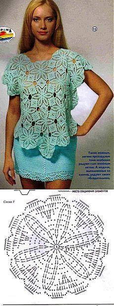 Ажурная блузка.