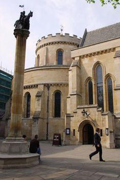 Temple Church - Temple Church Exterior from http://LondonTown.com