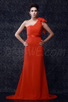 Dresswe.com SUPPLIES Charming Bowknot A-Line Floor-length One-Shoulder Taline's Bridesmaid Dress 2013 Bridesmaid Dresses