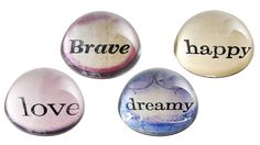 Affirmation Paperweights by Rosanna from The Judds on OpenSky