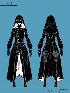 A detailed design of YoRHa from YoRHa Boy Stageplay by Yuya Nagai (Character Designer of NieR Automata) Check out YoRHa and Artwork here Read YoRHa Boy Stageplay Story Experience. Mode Kimono, Clothing Sketches, Hero Costumes, Anime Dress, Fashion Design Drawings, Fantasy Dress, Drawing Clothes, Mode Vintage, Character Outfits