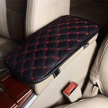 b9782601853 Leather Car Armrest Pad Covers Universal Center Console Auto Seat Armrests  Box Pads Black Armrest Storage