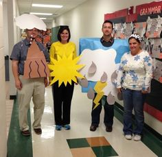 Try these DIY Group Halloween Costumes for your Halloween party. These DIY Halloween Costumes are easy to make and perfect for your gang in college or work Teacher Halloween Costumes Group, Halloween Science, Theme Halloween, Creative Halloween Costumes, Halloween Halloween, Vintage Halloween, Halloween Makeup, Preschool Halloween, Halloween Outfits