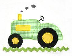 Traktor Applique Design mit Ric Rac 144