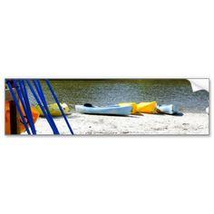 Kayaks on the Beach Bumper Sticker