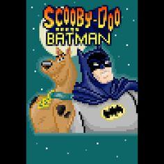 pixel art Scooby-Doo meets Batman meets duo scooby-doo batman moon flippy13 unlikely by flippy13 piq