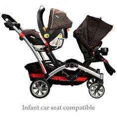 Contours Optima Tandem Stroller - Contours Tandem Stroller | Tandem Double Stroller | Tandum Stroller