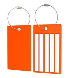 Travel Suitcase Luggage Bag Tags Airlines Baggage Labels 4 Tags Orange >>> You can get more details by clicking on the image.Note:It is affiliate link to Amazon.