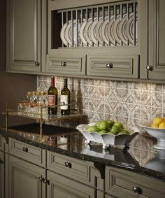 StoneImpressions: Sage Green Inspiration from KraftMaid Cabinets