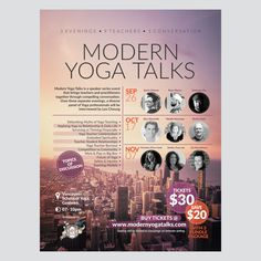Poster for Yoga Seminar and Talkshow | 99designs