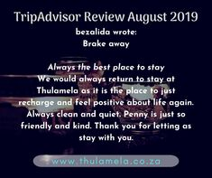Book your romantic stay with us online www.thulamela.co.za Or contact Penny on 082 454 8278, Email: info@thulamela.co.za #sweetromance #thulamela #loveisintheair #loveindabush Tripadvisor Reviews, Love Is In The Air, Trip Advisor, The Good Place, Positivity, Romantic, Good Things, Writing, Feelings
