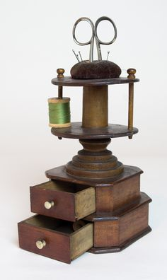 Lot 11: Sister's Spool Holder | Willis Henry Auctions, Inc.