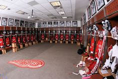 Detroit Red Wings Locker Room