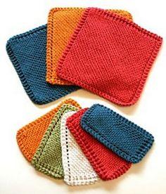 Traditional Garter Stitch Dishcloth BEGINNER - free pattern