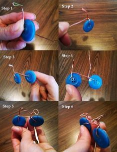 Extraordinary-DIY-Button-Craft-Ideas The smallest of buttons can make up to being great artworks. These Extraordinary DIY Button Craft Ideas can be used for wealth from the waste project Wire Crafts, Fun Crafts, Diy And Crafts, Crafts For Kids, Arts And Crafts, Paper Crafts, Kids Diy, Summer Crafts, Resin Crafts