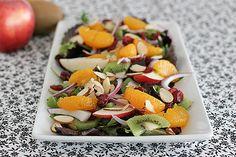 Summer fare   Apple orange kiwi salad