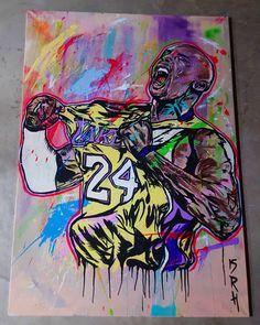 1 more to go - @kobebryant @lakers @nba. ##Artlife #Artdealer #Artbasel #Artgallery #Streetart #Popart #ArtSale #ForSale #KobeBryant #Lakers #NBA #cre8hype #ArtfidoNAAS #ModernArt #Abstract #Artistlife #Artist #Graffiti #GraffitiArt by rahmaanh