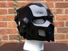 Mortal Kombat Noob Saibot Full Face BLK Airsoft Mask - Made to order Paintball Mask, Airsoft Helmet, Airsoft Guns, Tactical Survival, Tactical Gear, Survival Gear, Motorcycle Helmets, Riding Helmets, Motocross