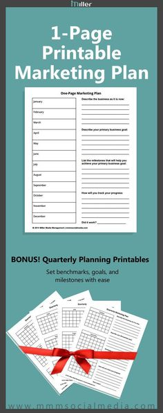 I love this! Just filled mine out and feeling ready to grow my business! A marketing plan doesn't have to be long and boring. Use this 1-page printable to set your marketing goals for the year. Bonus quarterly planners for mini goals and milestones. (scheduled via http://www.tailwindapp.com?utm_source=pinterest&utm_medium=twpin&utm_content=post1492025&utm_campaign=scheduler_attribution)