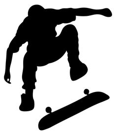 TheVinylGuru Skateboarding Wall Decal Sticker 4 - Decal Stickers and Mural for Kids Boys Girls Room and Bedroom. Skating Wall Art for Home Decor and Decoration Ð Skate Board Silhouette Mural Nursery Stickers, Wall Stickers Murals, Wall Decal Sticker, Skateboard Tattoo, Skateboard Art, Murals For Kids, Art For Kids, Boys Bedroom Wallpaper, Dibujos Tattoo