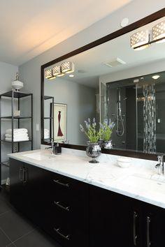 Vancouver Contemporary Family Home Vancouver, Custom Built Homes, Beautiful Bathrooms, Contemporary, Modern, Master Bathroom, Home And Family, Mirror, Bathroom Ideas