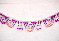 Handmade Indian Beaded Embroidered  Door Wall Hanging  Toran Good Luck Charmer