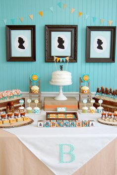 Goldilocks and the Three Bears dessert table. #birthday #party #dessert #table