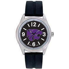 Men's Game Time Kansas State Wildcats Varsity Watch (155 ILS) ❤ liked on Polyvore featuring men's fashion, men's jewelry, men's watches, black, mens watches jewelry and mens watches
