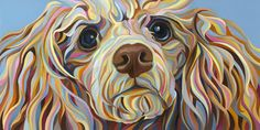 Pink Poodle, Oil on Canvas, x 2010 by Kate Hoyer Dog Pop Art, Dog Art, Art Through The Ages, Jackson, Pink Poodle, Dog Paintings, Animal Faces, Dog Portraits, Cocker Spaniel