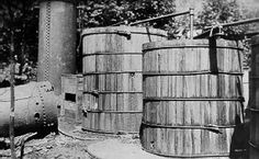 The Blue Blazes whiskey still at Catoctin Mountain, Maryland, was a large commercial operation. More than gallons of mash were found in 13 vats when the operation was raided in July How To Make Moonshine, Moonshine Still, Making Moonshine, Whiskey Still, Blue Blaze, Copper Still, Survival Skills, Survival Stuff, Moon Shine