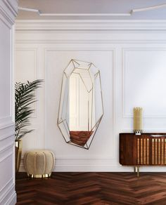 Inspired by dazzling shapes of a diamond rock, midcentury modern Diamond mirror is the ultimate revolution on trends M&O. Find this retro piece at Maison et Objet 2017 Paris. http://essentialhome.eu/products/accessories/diamond-mirror