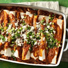 Holy mole! Yummy Make-Ahead Oven-Roasted Pulled Pork and a shortcut mole made with Make-Ahead Roma Roasted Tomato Sauce take your weeknight enchiladas to the next level.