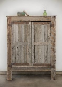 Rustic Airmoire Using Reclaimed Wood / Barnwood
