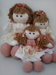 trio de bonecas para nichos em varios tamanhos 50cm 30cm e 20cm