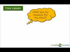 Write a thesis statement for an argumentative essay--Lesson 2 of 7 (Common Core Standard W.6.1a)