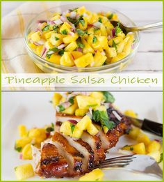 Pineapple Salsa Chicken  www.joyineveryseason.com