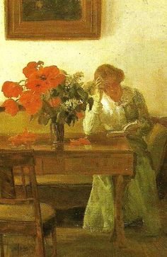 ✉ Biblio Beauties ✉ paintings of women reading letters & books - Anna Ancher, Danish Painter, 1859-1935