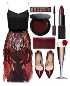 """""""Happy Valentine's Day"""" by julijana-k ❤ liked on Polyvore featuring Boutique, Gucci, Nina Ricci, NARS Cosmetics, Bobbi Brown Cosmetics, Zara, women's clothing, women, female and woman"""