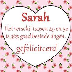 Verjaardagskaart Sarah