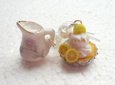 Hey, I found this really awesome Etsy listing at https://www.etsy.com/listing/166366772/lemon-meringue-pie-and-cream-earrings