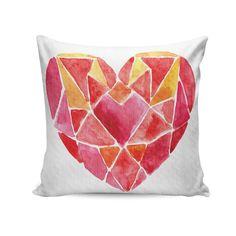 Capa para almofada Geometric heart 45x45 - PRINCE ST